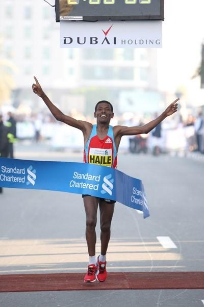 Haile Gebreselassie ganó el Maratón de Dubai